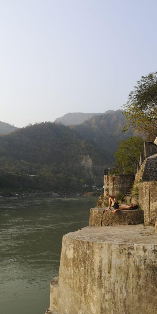 Le spot de saut à RIshikesh