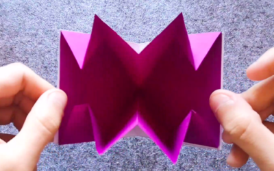 Carte origami explosive