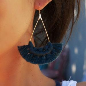 boucles d'oreilles macramé